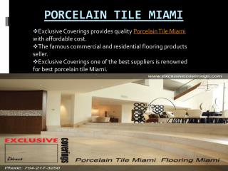 Porcelain Tile Miami