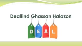 Dealfind Ghassan Halazon