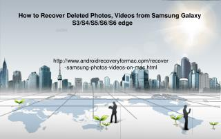 How to Recover Deleted Samsung Photos and Videos on Mac