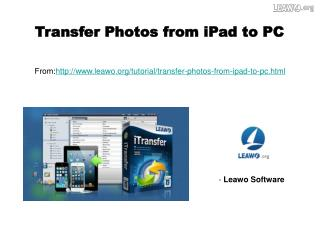 Transfer Photos from iPad to PC