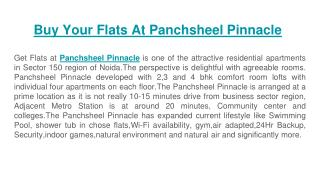 Get flats at panchsheel pinnacle