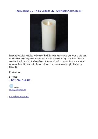 Red Candles UK - White Candles UK - Affordable Pillar Candles
