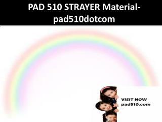 PAD 510 STRAYER Material-pad510dotcom