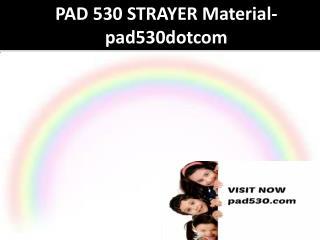PAD 530 STRAYER Material-pad530dotcom