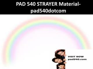 PAD 540 STRAYER Material-pad540dotcom