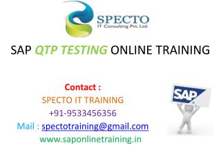 BEST TRAINING IN SAP QTP TESTING IN USA