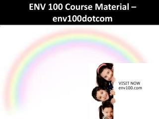 ENV 100 Course Material - env100dotcom