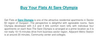 Buy Your Flats At Sare Olympia