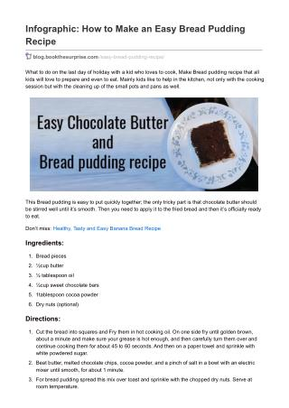 How to Make an Easy Bread Pudding Recipe