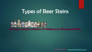 Types of Beer Steins