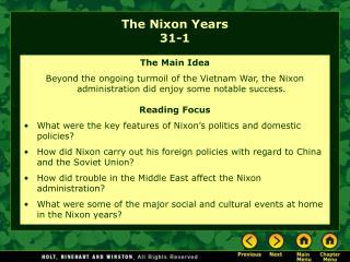 The Nixon Years 31-1