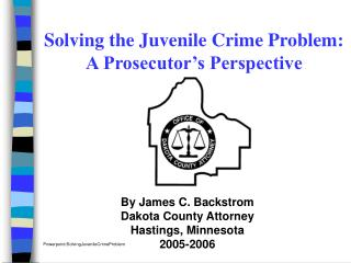 The Warning:1996 Bipartisan Council on Crime in America By the year 2000