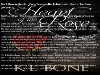 Black Rose Author K.L. Bone Releases Much-Anticipated Heart of the Rose (Volume 2)