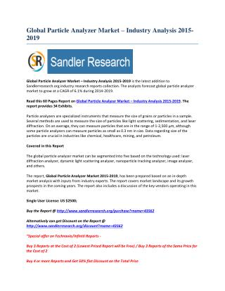 Global Particle Analyzer Market Grows at 6% CAGR to 2019
