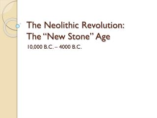 Mayer - World History - Neolithic Age