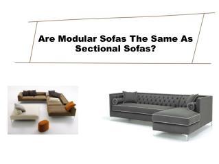 Are Modular Sofas The Same As Sectional Sofas