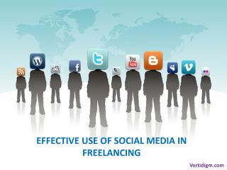 Effective Use of Social Media in Freelancing