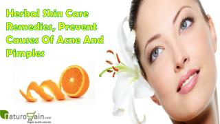 Herbal Skin Care Remedies, Prevent Causes Of Acne And Pimples