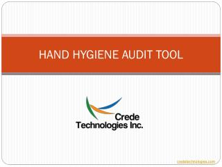 HAND HYGIENE AUDIT TOOL PPT