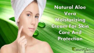 Natural Aloe Vera Moisturizing Cream For Skin Care And Protection