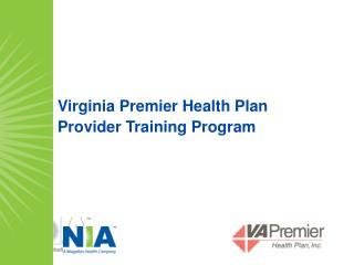 Virginia Premier Health Plan Provider Training Program