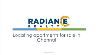 Locating apartments for sale in Chennai