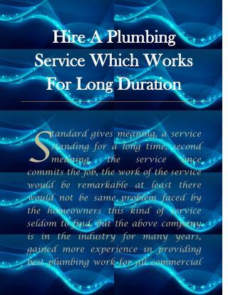 plumbing service Stockton