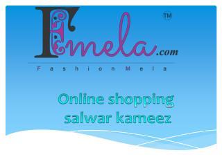 Online shopping salwar kameez