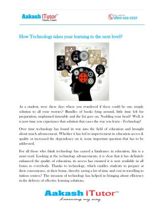 How Technology takes your learning to the next level?