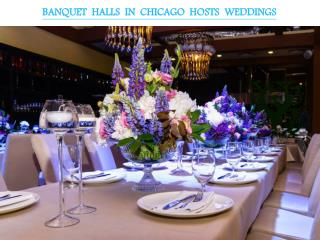 BANQUET HALLS IN CHICAGO HOSTS WEDDINGS