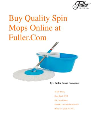 Fuller.Com Offering you Quality Spin Mops Online