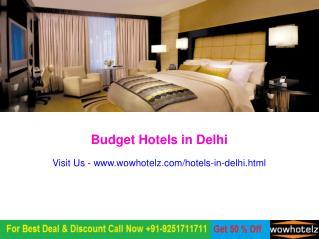 Book Budget Hotels in Delhi @1099/-