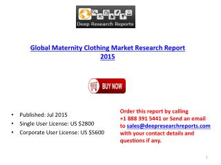 Maternity Clothing Industry Worldwide Strategy and 2020 Forecasts