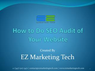How to Do SEO Audit of Your Website