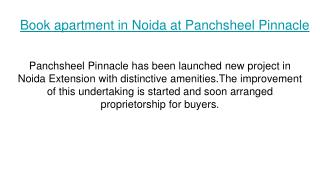 Book apartment in Panchsheel Pinnacle