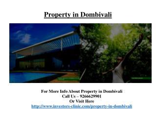 Property in Dombivali@9266629901