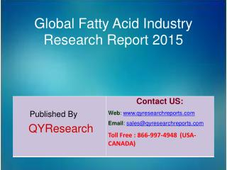 Global Fatty Acid Market 2015 Industry Growth, Overview, Analysis, Share and Trends