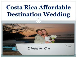 Costa Rica Affordable Destination Wedding