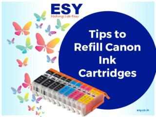 Tips to Refill Canon Ink Cartridges
