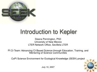Introduction to Kepler