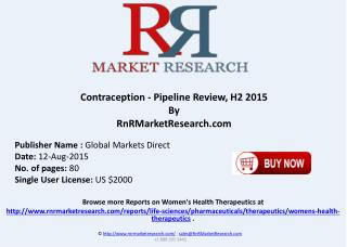 Contraception Pipeline Therapeutics Assessment Review H2 2015