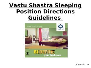 Vastu Shastra Sleeping Position Directions Guidelines