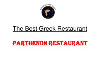 The Best Greek Restaurant