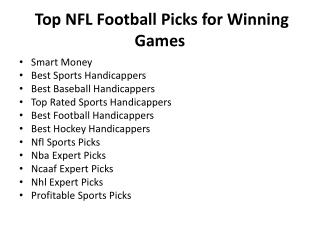 Top NFL Football Picks for Winning Games