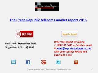 Czech Republic Telecoms Market Research Share 2015