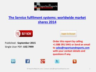 Worldwide  Service Fulfilment Systems Market Shares 2014