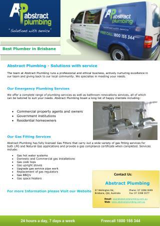 Abstract Plumbing - Best Plumber in Brisbane