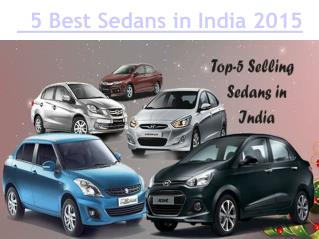 Find the Best Sedan in India 2015