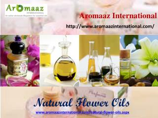 Buy online natural flower oils at aromaaz international