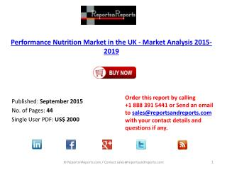 Performance Nutrition Market in The UK by Mass Market Retail